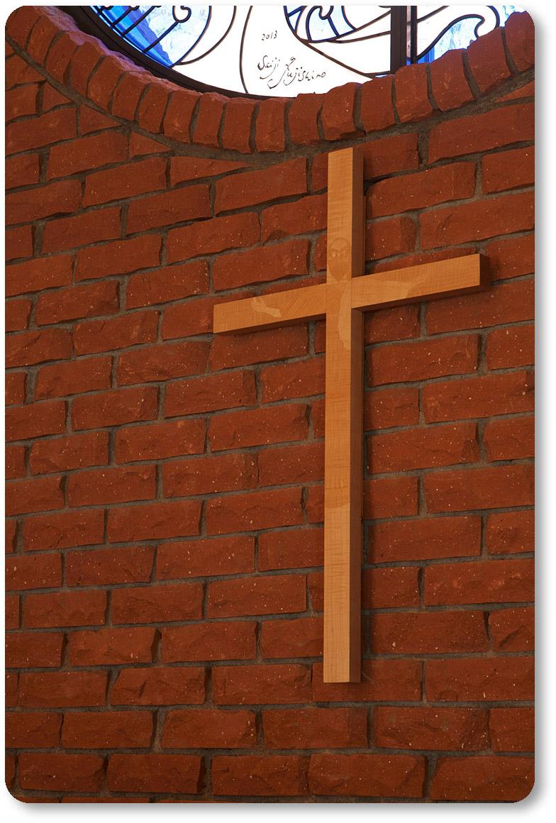 イエス様が象嵌加工された十字架