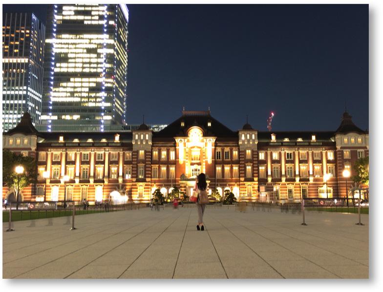 東京駅を長時間露光で撮影