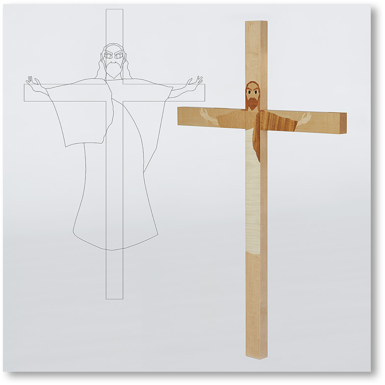 イエス キリストの姿を表現した十字架
