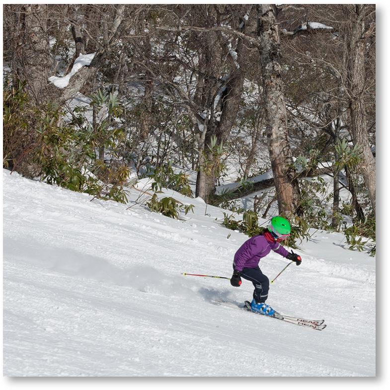 マウントジーンズでスキー