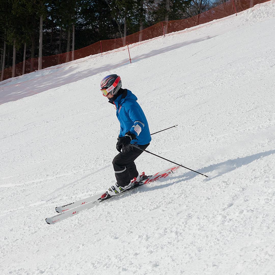 スキー場で撮影