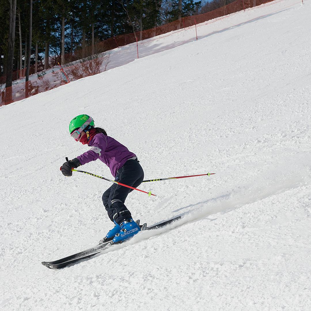 一眼レフカメラでスキー撮影