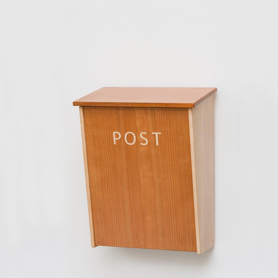 木の郵便箱