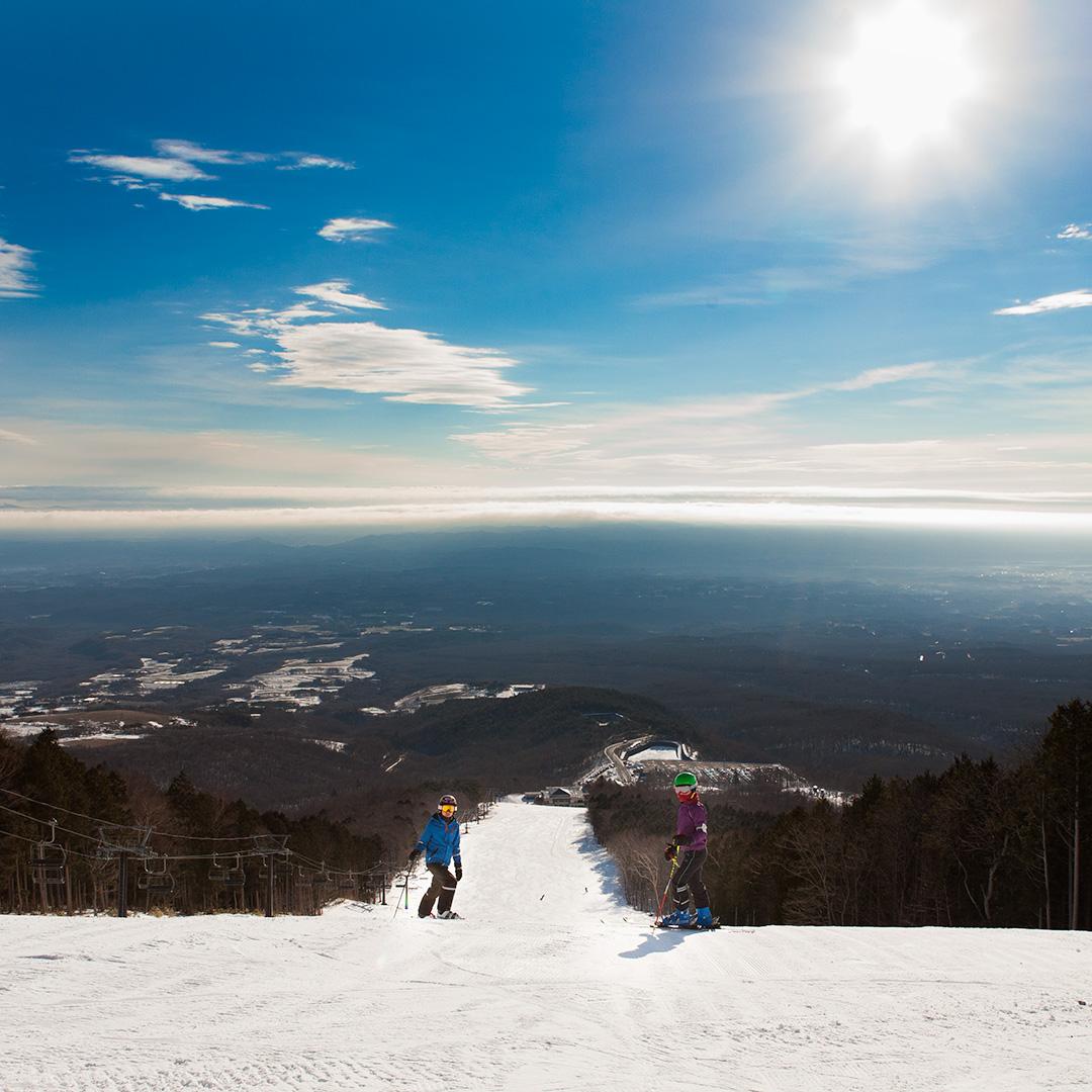マウントジーンズ スキー場の絶景