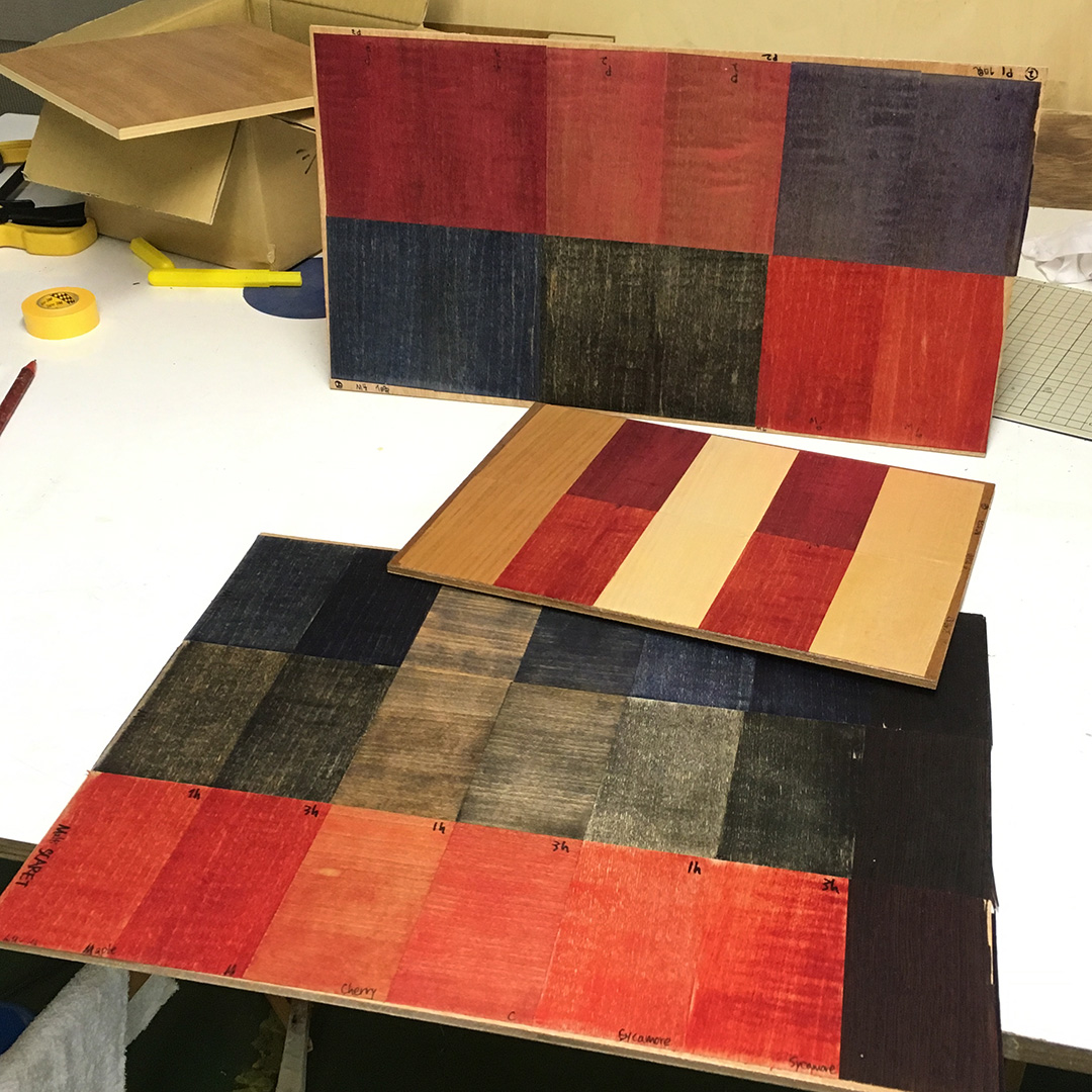 dyeing wood veneer