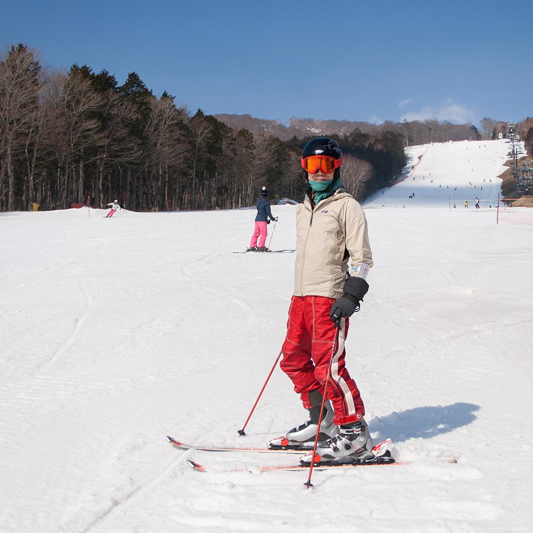 マウントジーンズ スキー場で親子で滑る