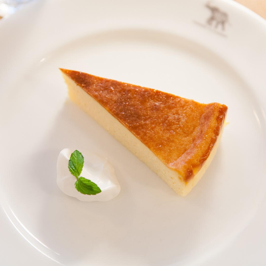 那須SHOZOカフェのチーズケーキ