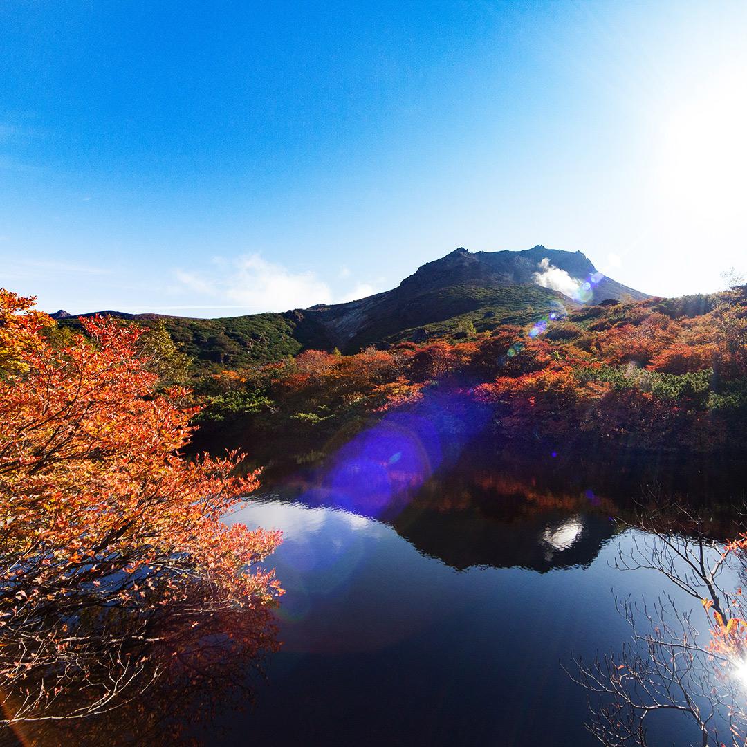那須の茶臼岳ひょうたん池