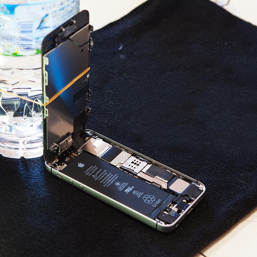 iPhoneSEのバッテリー