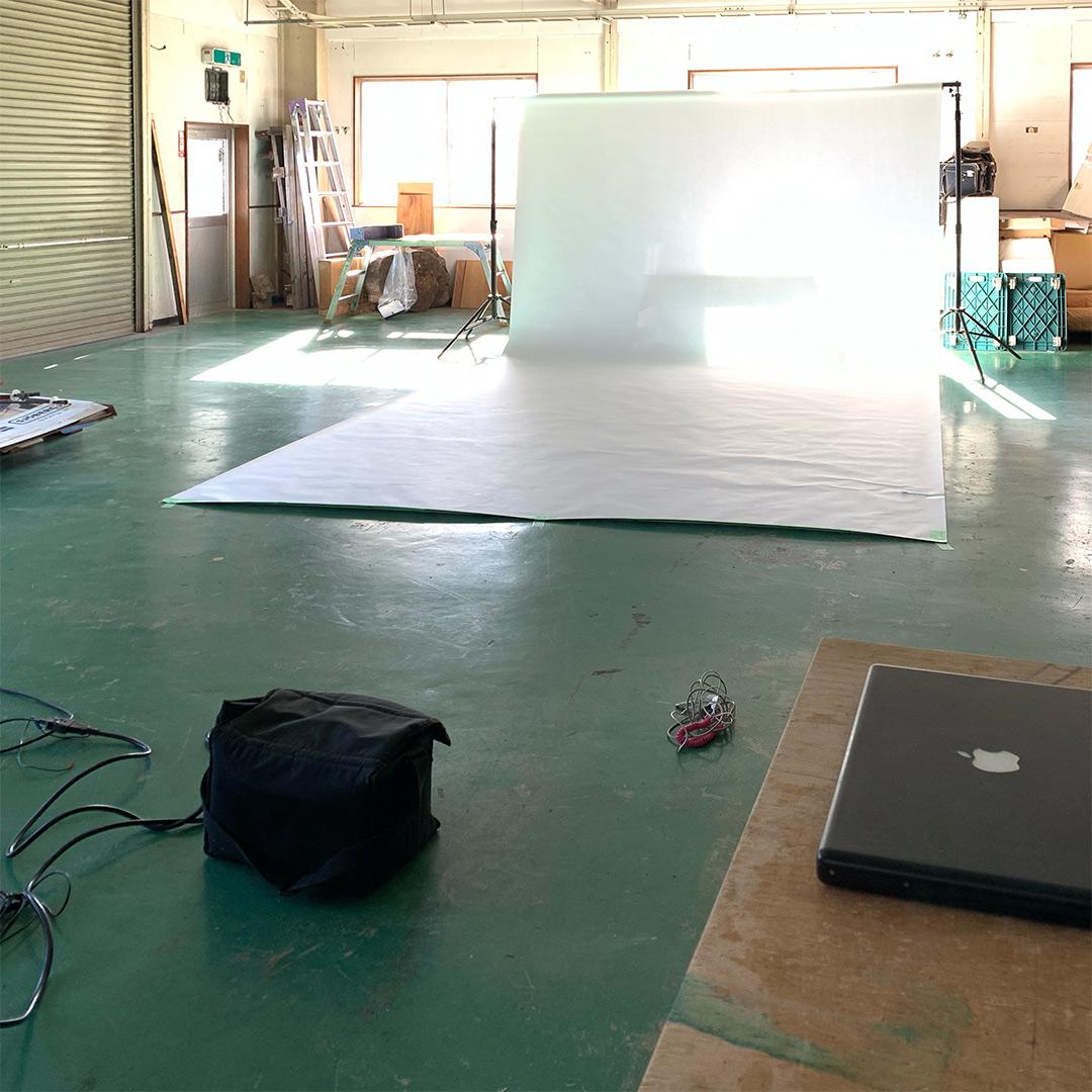 工房内にスタジオを作る